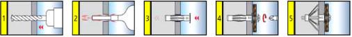 Kołek Stalowy MHD - schemat montażu